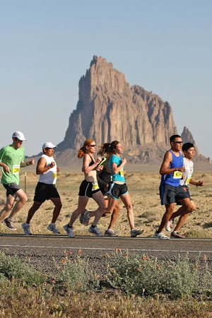 Runners in the Shiprock Marathon